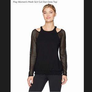 Nanette Lepore sport net sleeve cold shoulder top
